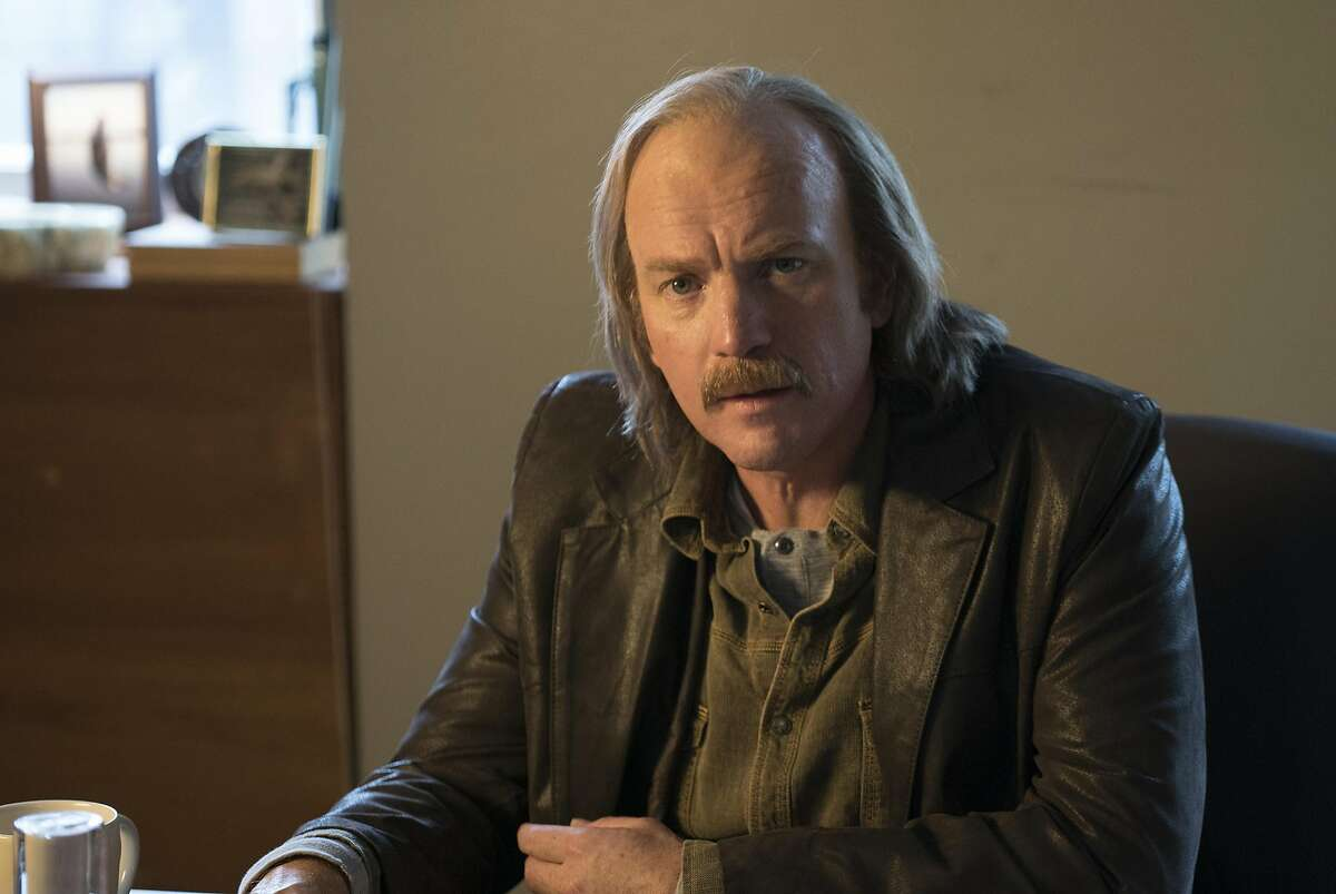 Ewan McGregor as balding pot-bellied younger brother Ray Stussy, who chose a Ferrari over the valuable stamps his father left him, and lost out on a potential fortune.