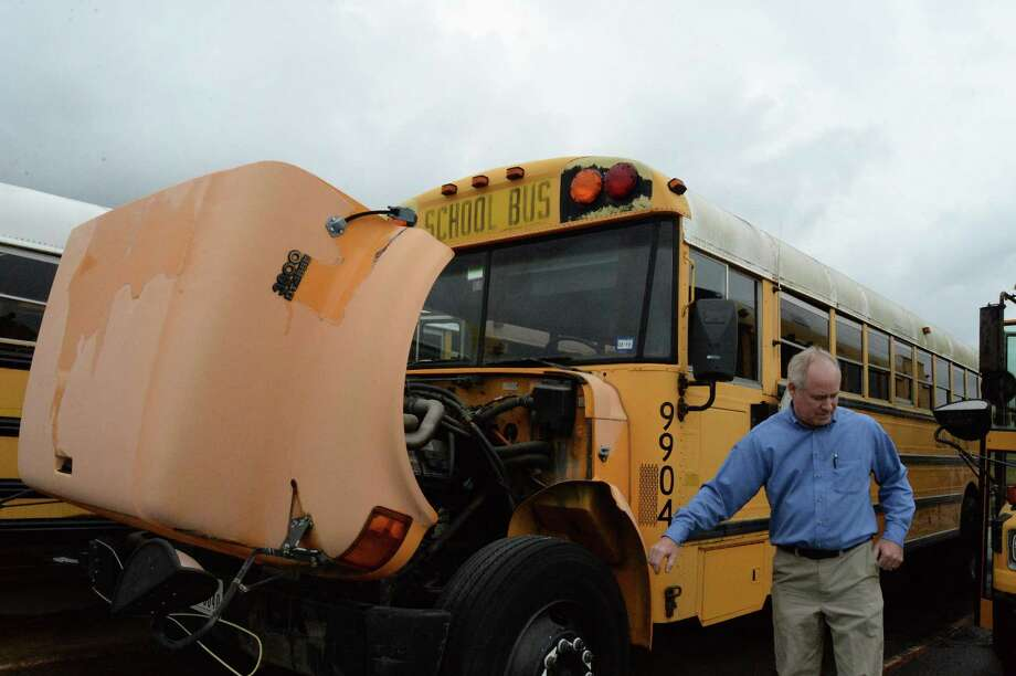 The expense to repair and maintain older buses gets costlier as they age, said Ken Winters, fleet manager for the Clear Creek ISD Transportation Department.  A bond proposal in the May 6 election would include almost $8 million to replace 75 aging buses.