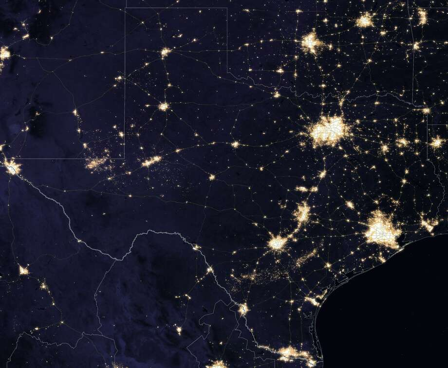 Texas at night Photo: NASA