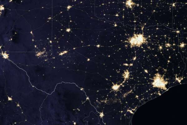 Texas at night