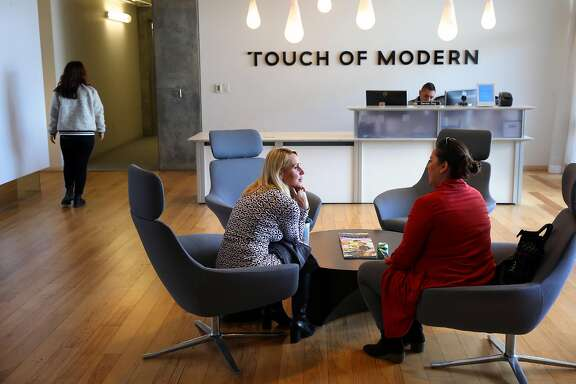 The lobby area at the offices of Touch of Modern on Wed. April 12, 2017, in San Francisco, Calif.
