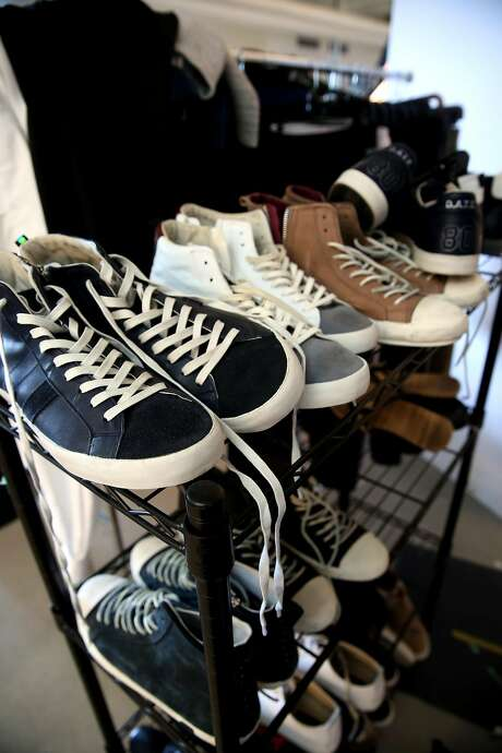 Stacks of shoes at the offices of Touch of Modern on April 12, 2017, in San Francisco. Photo: Michael Macor, The Chronicle