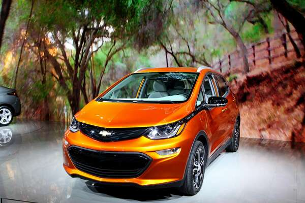 CHICAGO - FEBRUARY 12:  2017 Chevrolet Bolt FV is on display at the 108th Annual Chicago Auto Show at McCormick Place in Chicago, Illinois on February 12, 2016.  (Photo By Raymond Boyd/Getty Images)