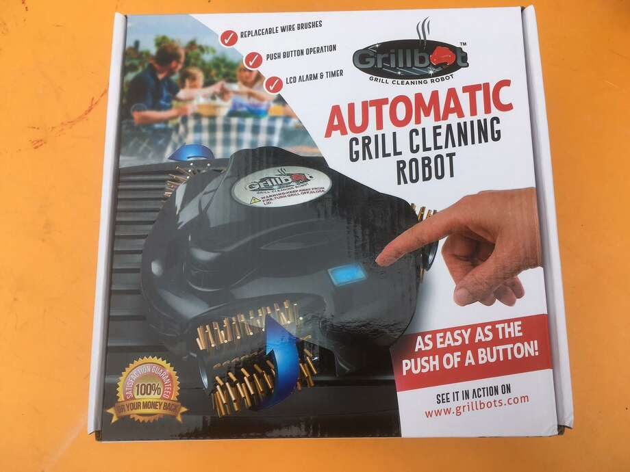 The Grillbot is an automated device that will clean your dirty grill grates in increments of 10, 20 and 30 minutes using a rechargeable battery. All you have to do is make sure the grill is cool and the lid is secure. The Grillbot retails from $75-120 depending on model and retail outlet. Photo: Chuck Blount / San Antonio Express-News