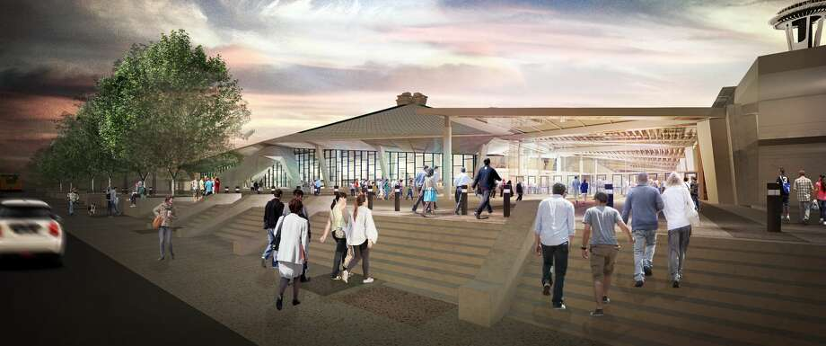 Original renderings from Oak View Group show a renovated KeyArena as part of the company's proposal to Seattle's Office of Economic Development. Photo: Courtesy Oak View Group