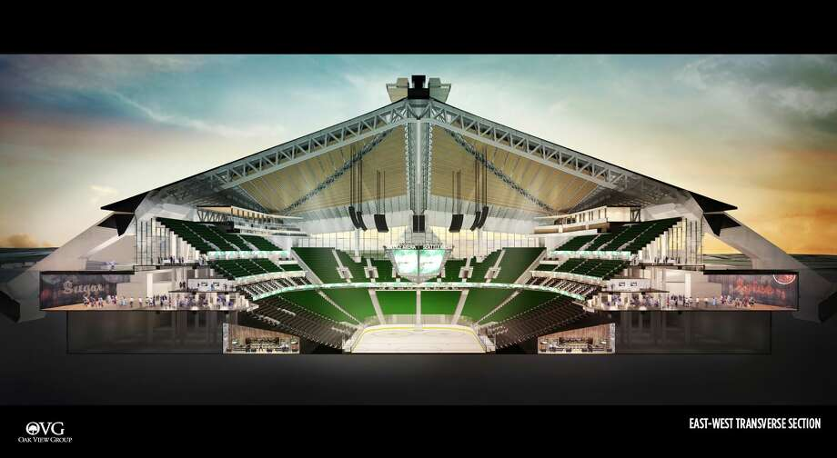 Renderings from Oak View Group show a renovated KeyArena as part of the company's proposal to Seattle's Office of Economic Development. Photo: Courtesy Oak View Group