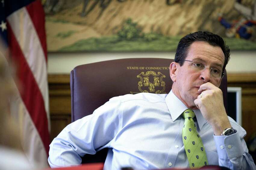 Gov. Dan Malloy in his office at the state Capitol in Hartford, Conn. on his 100th day in office on Thursday April 15, 2011.