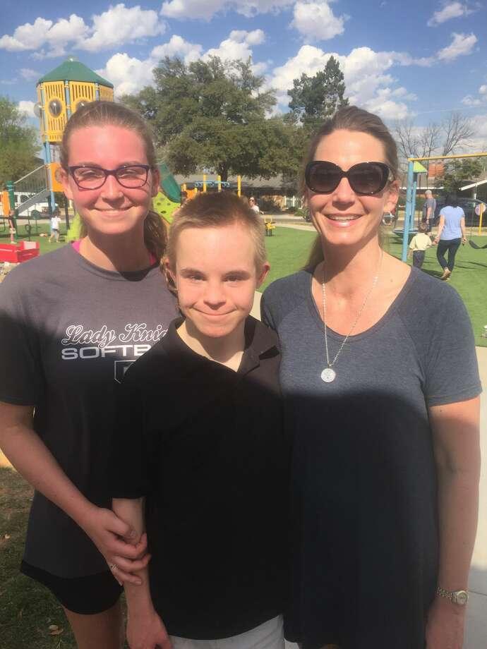 WDSD: Cammie Stokes, from left, Adley Stokes and Kim Stokes Photo: Courtesy Photo