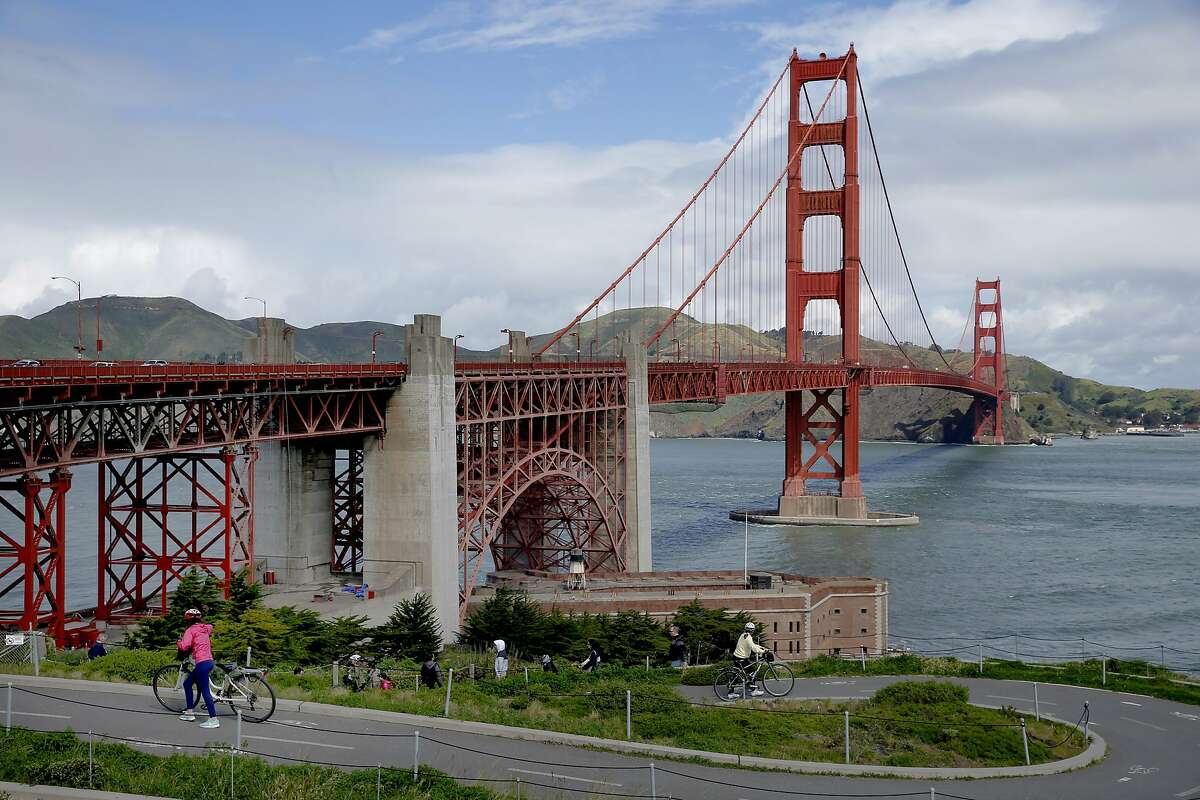 The Golden Gate Bridge on Thursday, April 13, 2017, in San Francisco, Calif.