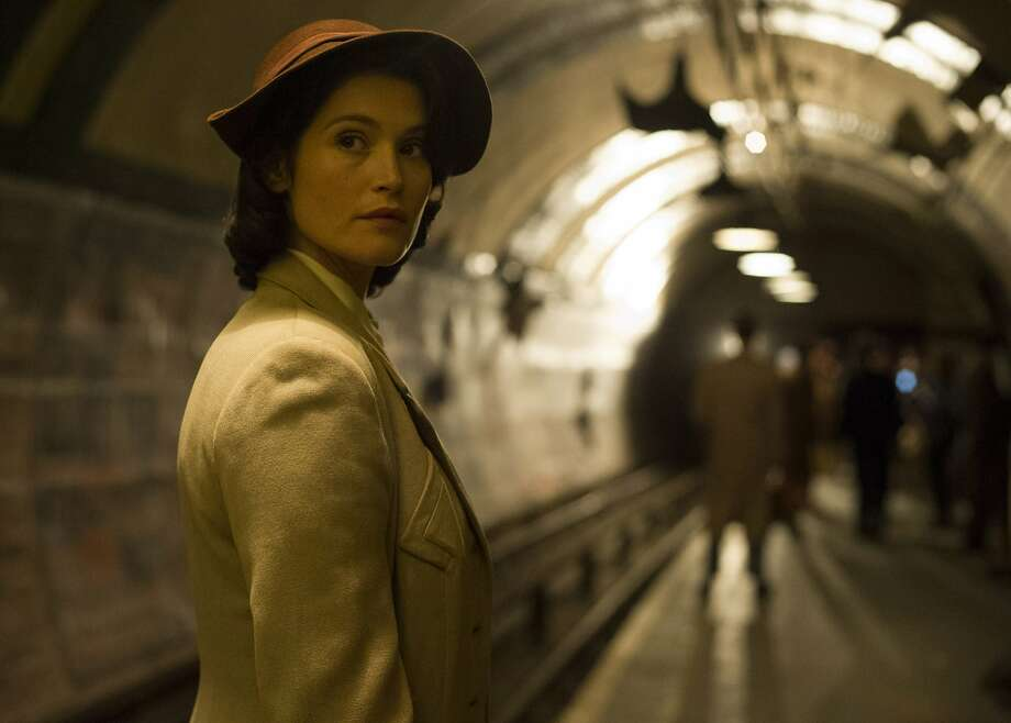 "Gemma Arterton plays Catrin Cole, a screenwriter working on making an inspiring film about a fishing boat rescue after the Battle of Dunkirk, in ""Their Finest."" Photo: STX Entertainment"