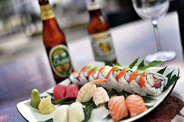 Sushi at Tong's Thai Restaurant.