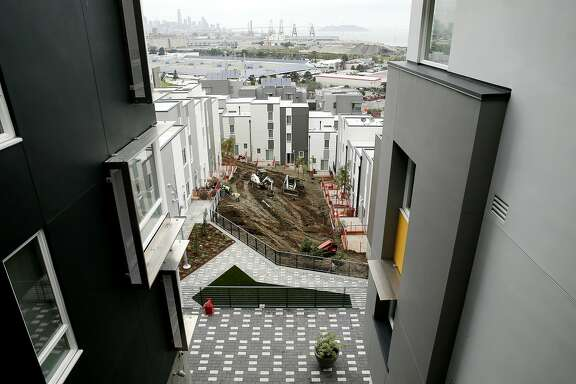 The developing Hunters Point public housing near Middle Point Road on Tuesday, April 11, 2017, in San Francisco, Calif.
