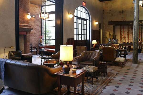 A view of the lobby of Hotel Emma, one of 10 projects being honored by the San Antonio Conservation Society.