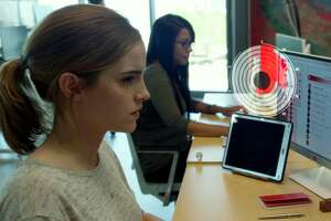 """Emma Watson in the new movie """"The Circle,"""" based on Dave Eggers' 2013 novel."""