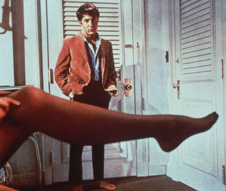 "Dustin Hoffman is seduced by the older Mrs. Robinson in ""The Graduate,"" in a story that looks a lot more complex viewed 50 years later. Photo: AP"