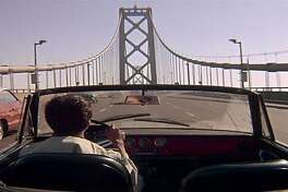 """IN """"The Graduate,"""" Dustin Hoffman drives east to Berkeley on the top deck of the Bay Bridge, which, in reality, is the westbound direction."""
