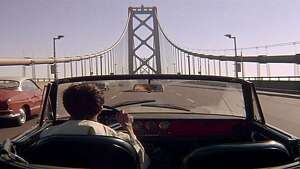 "IN ""The Graduate,"" Dustin Hoffman drives east to Berkeley on the top deck of the Bay Bridge, which, in reality, is the westbound direction."