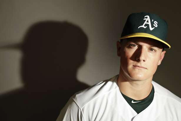 This is a 2017 photo of third baseman Matt Chapman of the Oakland Athletics baseball team poses for a portrait. This image reflects the Athletics active roster as of Wednesday, Feb. 22, 2017, when this image was taken. (AP Photo/Chris Carlson)