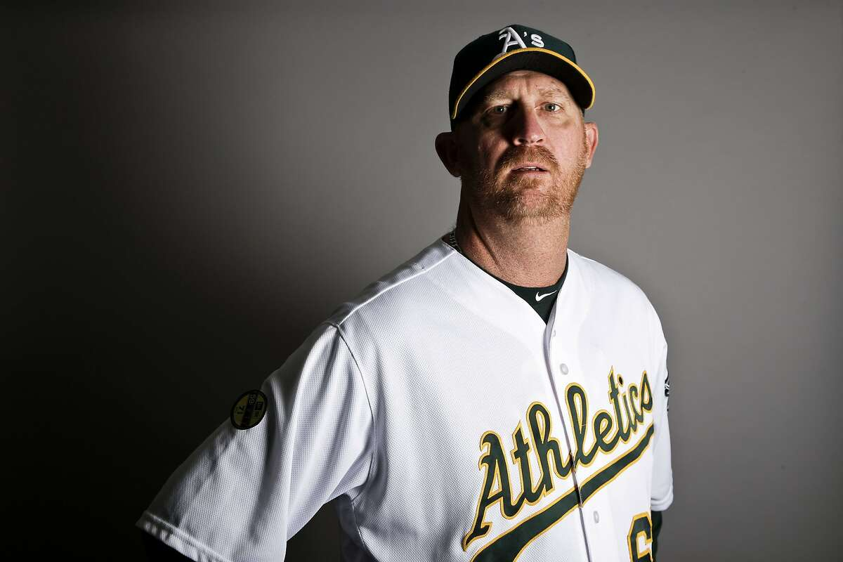 This is a 2017 photo of bullpen coach Scott Emerson of the Oakland Athletics baseball team poses for a portrait. This image reflects the Athletics active roster as of Wednesday, Feb. 22, 2017, when this image was taken. (AP Photo/Chris Carlson)
