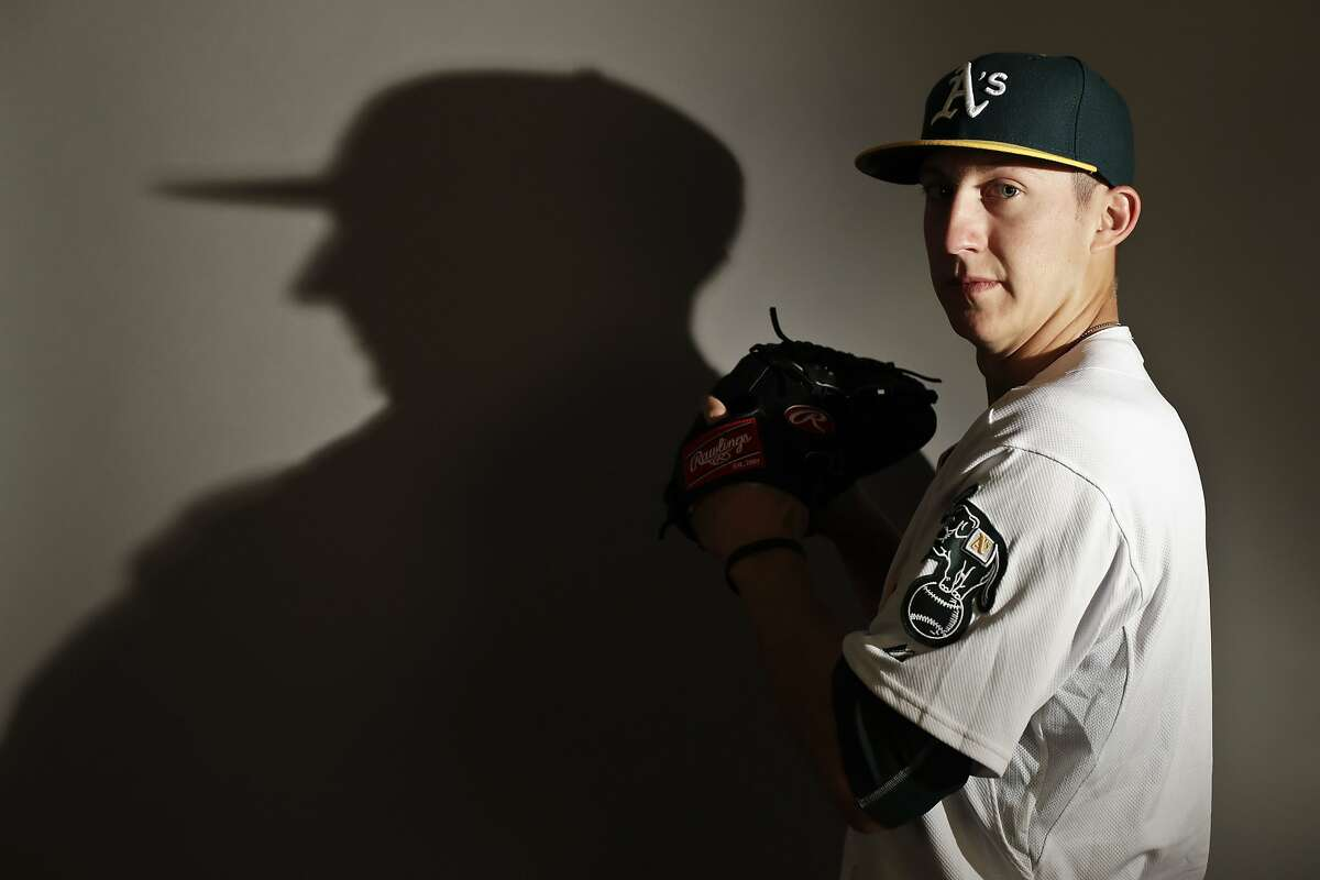 This is a 2017 photo of relief pitcher Daniel Gossett of the Oakland Athletics baseball team poses for a portrait. This image reflects the Athletics active roster as of Wednesday, Feb. 22, 2017, when this image was taken. (AP Photo/Chris Carlson)