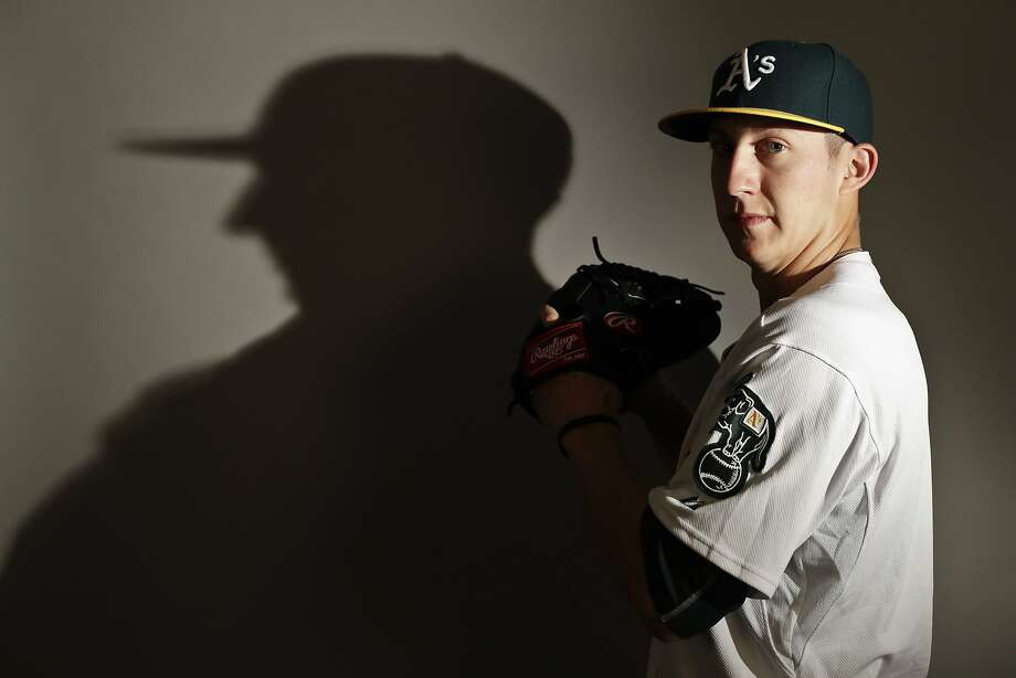 This is a 2017 photo of relief pitcher Daniel Gossett of the Oakland Athletics baseball team poses for a portrait. This image reflects the Athletics active roster as of Wednesday, Feb. 22, 2017, when this image was taken. (AP Photo/Chris Carlson) Photo: Chris Carlson, AP