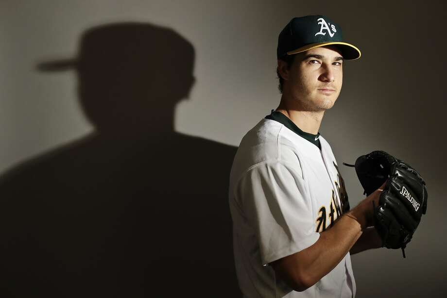 This is a 2017 photo of starting pitcher Michael Brady of the Oakland Athletics baseball team poses for a portrait. This image reflects the Athletics active roster as of Wednesday, Feb. 22, 2017, when this image was taken. (AP Photo/Chris Carlson) Photo: Chris Carlson, AP