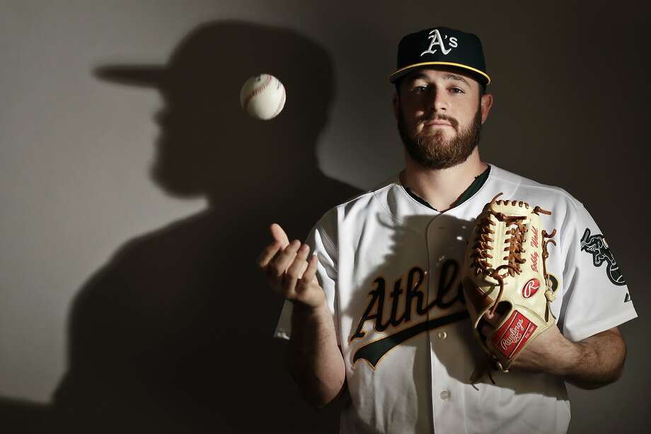 This is a 2017 photo of starting pitcher Bobby Wahl of the Oakland Athletics baseball team poses for a portrait. This image reflects the Athletics active roster as of Wednesday, Feb. 22, 2017, when this image was taken. (AP Photo/Chris Carlson) Photo: Chris Carlson, AP