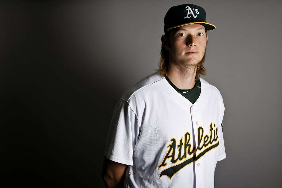 This is a 2017 photo of pitcher A.J. Puk of the Oakland Athletics baseball team poses for a portrait. This image reflects the Athletics active roster as of Wednesday, Feb. 22, 2017, when this image was taken. (AP Photo/Chris Carlson) Photo: Chris Carlson, AP