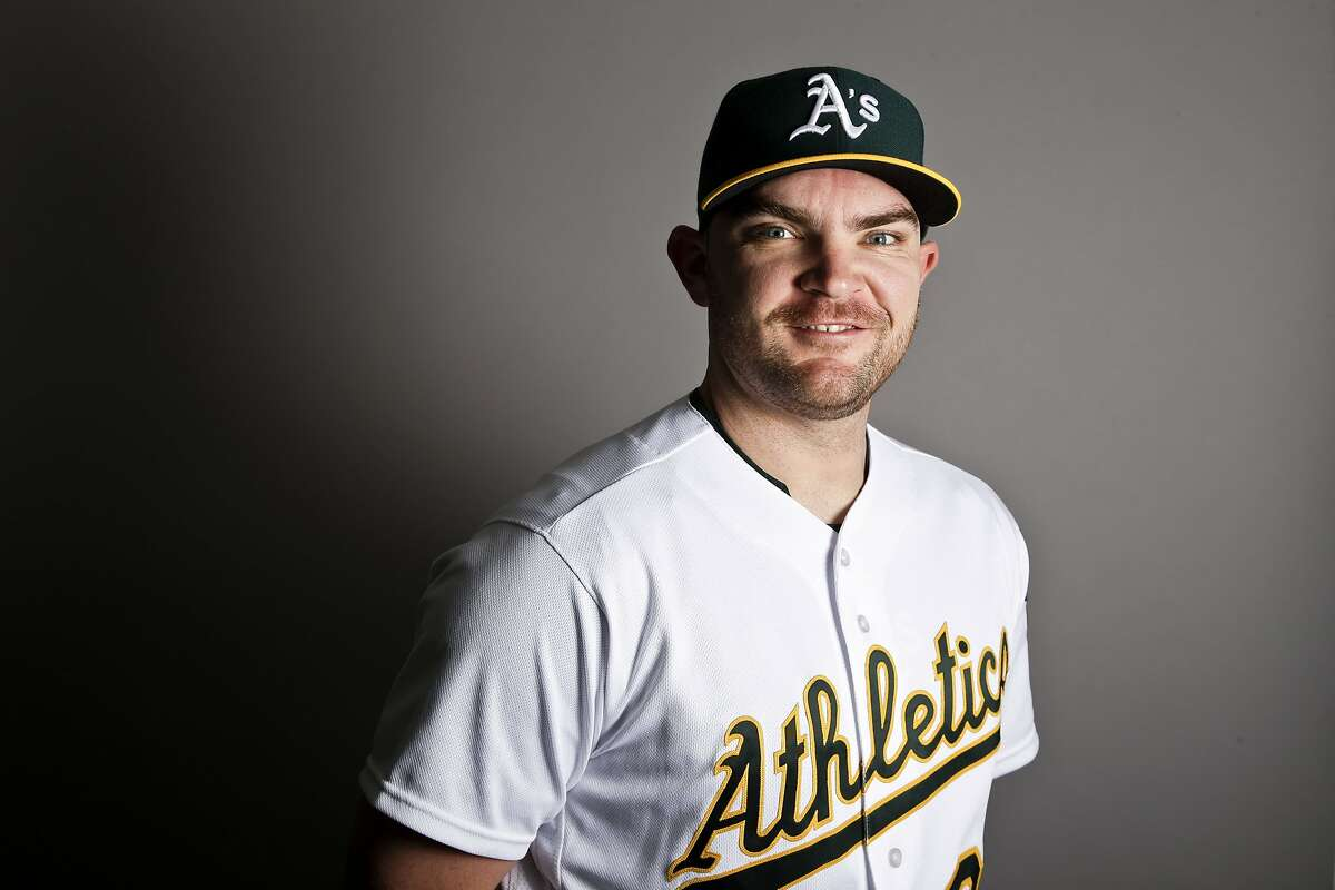 This is a 2017 photo of relief pitcher Liam Hendriks of the Oakland Athletics baseball team poses for a portrait. This image reflects the Athletics active roster as of Wednesday, Feb. 22, 2017, when this image was taken. (AP Photo/Chris Carlson)
