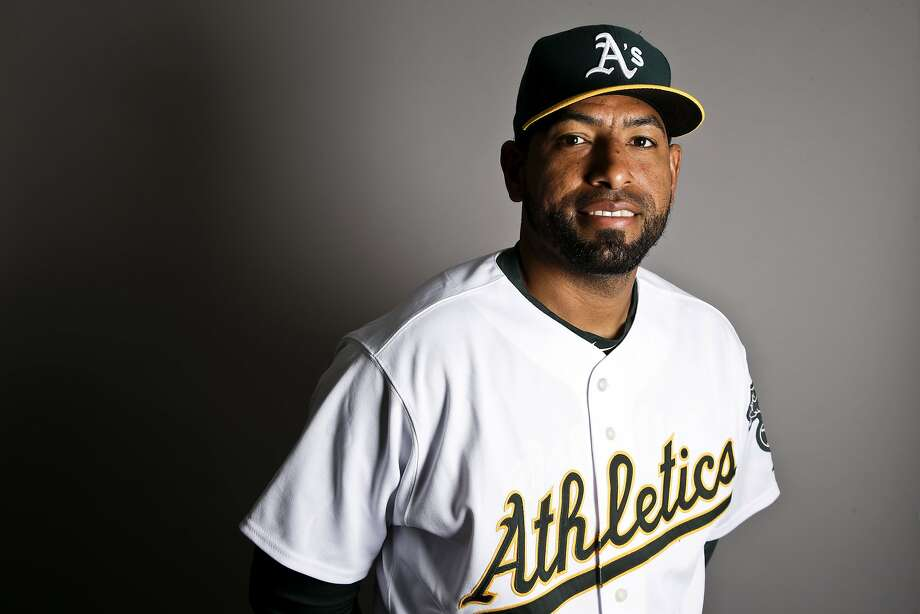 This is a 2017 photo of relief pitcher Cesar Valdez of the Oakland Athletics baseball team poses for a portrait. This image reflects the Athletics active roster as of Wednesday, Feb. 22, 2017, when this image was taken. (AP Photo/Chris Carlson) Photo: Chris Carlson, AP