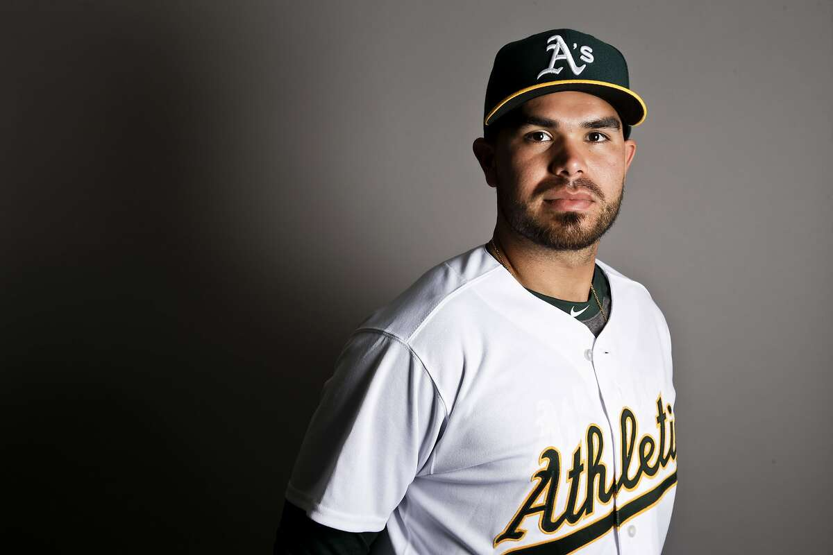 This is a 2017 photo of third baseman Renato Nunez of the Oakland Athletics baseball team poses for a portrait. This image reflects the Athletics active roster as of Wednesday, Feb. 22, 2017, when this image was taken. (AP Photo/Chris Carlson)