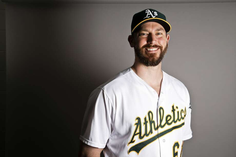 This is a 2017 photo of relief pitcher John Axford of the Oakland Athletics baseball team poses for a portrait. This image reflects the Athletics active roster as of Wednesday, Feb. 22, 2017, when this image was taken. (AP Photo/Chris Carlson) Photo: Chris Carlson, AP