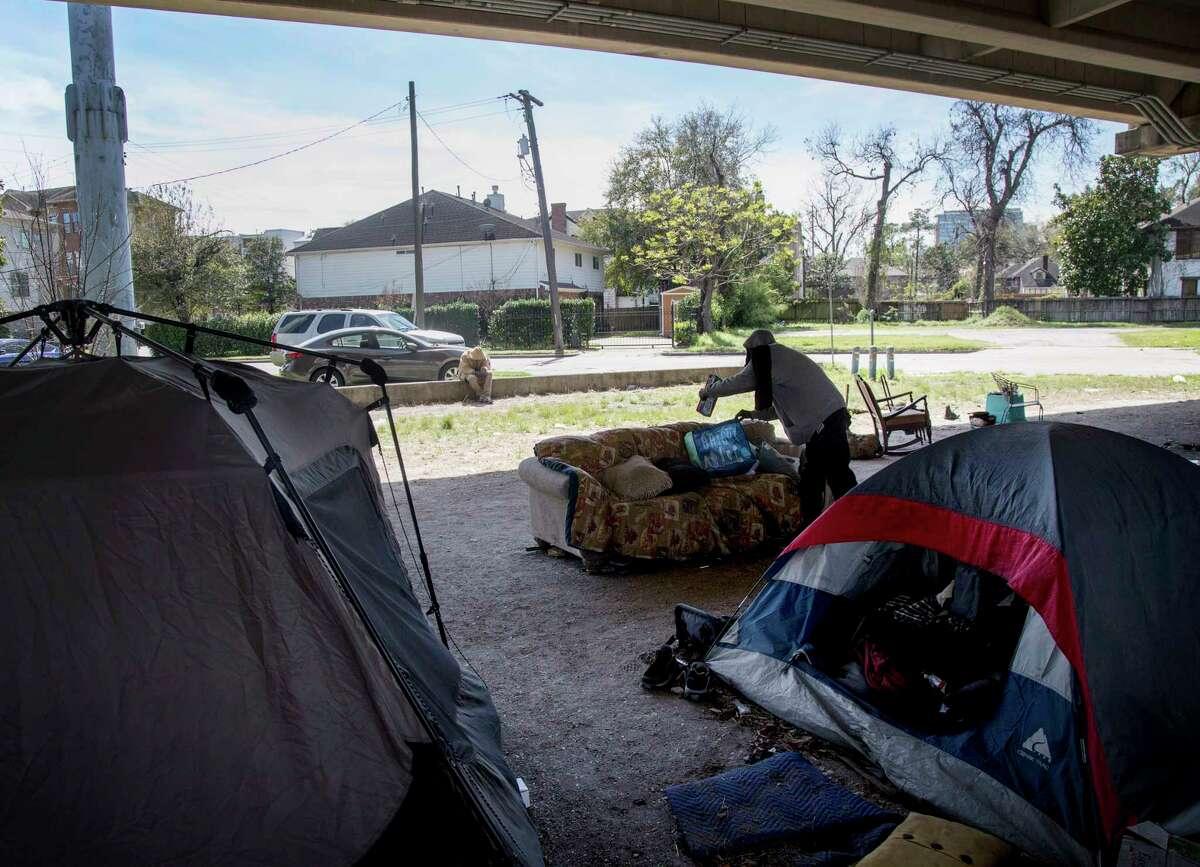 An encampment in Houston.