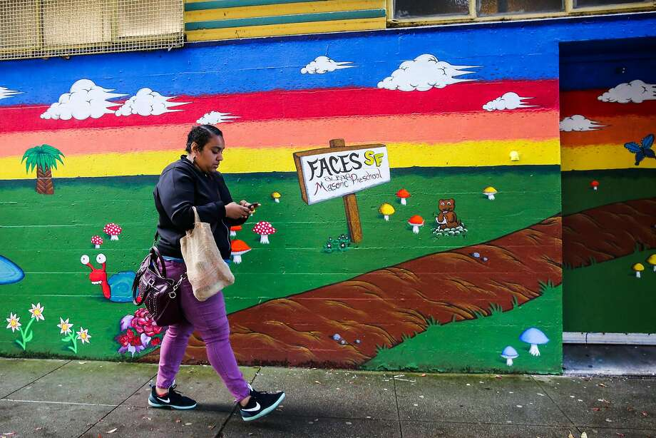 combo Kailey Norris walks from her car to her office in the Haight district of San Francisco, California, on Thursday, April 13, 2017. Photo: Gabrielle Lurie, The Chronicle