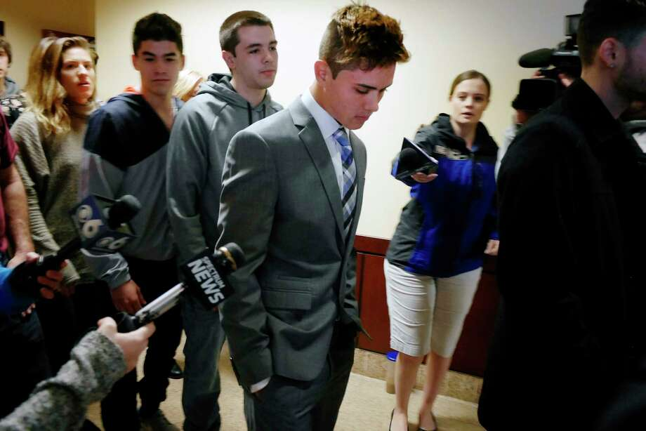 Michael Carr leaves court after his arraignment on charges relating to the October 2016 vehicular crash into Blessings Tavern in the Town of Colonie, on Thursday, April 13, 2017, in Albany, N.Y.  (Paul Buckowski / Times Union) Photo: PAUL BUCKOWSKI / 20040246A