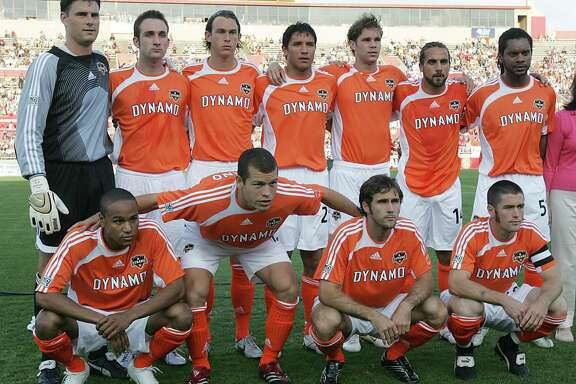 The Houston Dynamo's starters poses for a photograph before the start of Sunday's MLS game against the Colorado Rapids at the University of Houston's Robertson Stadium April 2,2006 in Houston, Texas.  James Nielsen (For the Houston Chronicle)