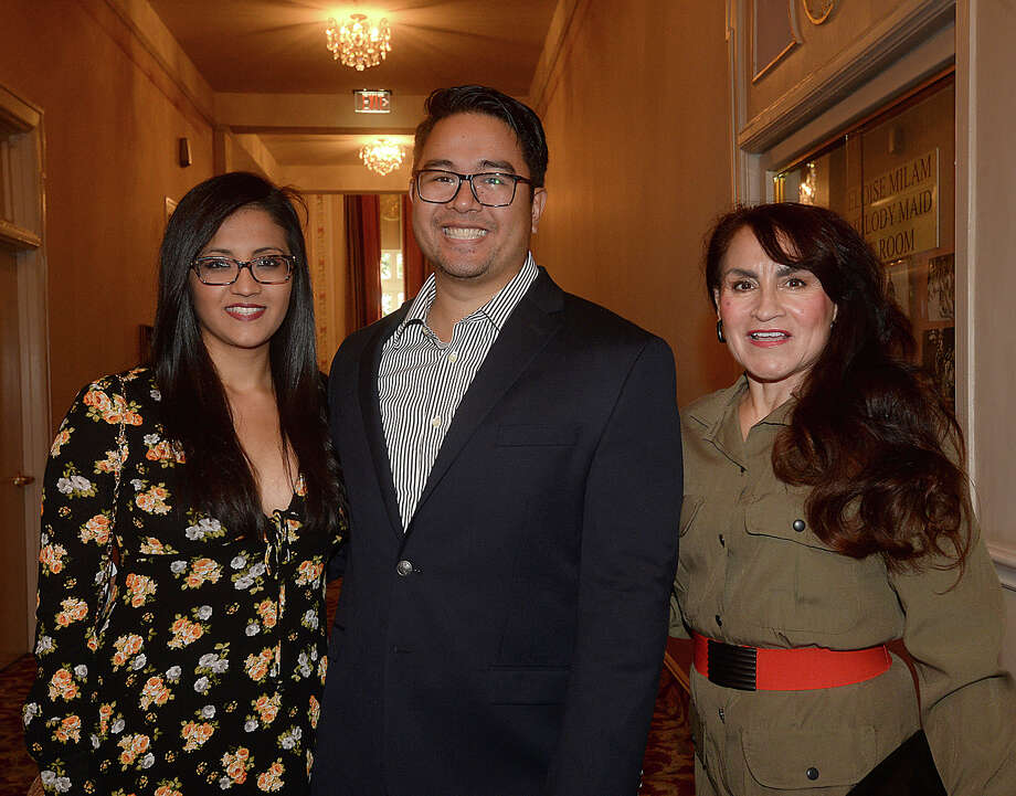 Ana Garcia, Jeremy Fermo, and Magda Villarreal were at the United States Army Field Band of Washington, DC's concert at the Julie Rogers Theatre Thursday. The 65-member Concert Band and 29-member Soldiers' Chorus perform a range of musical classics ranging from orchestral pieces to opera, and Sousa marches to jazz and Broadway musicals. Photo taken Thursday, April 13, 2017 Kim Brent/The Enterprise Photo: Kim Brent / BEN