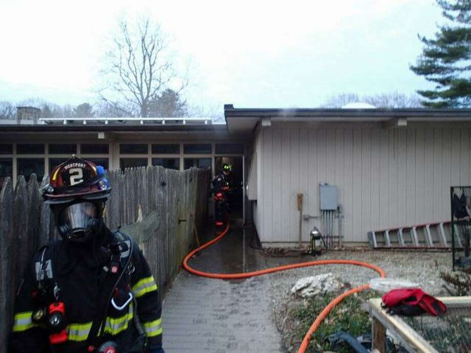 Westport Firefighters were dispatched to a fire alarm activation at a commercial occupancy on Woodside Lane at 5:55 a.m. on Friday, April 14, 2017. The fire damage was limited to the room of origin and an adjoining room. Numerous animals were rescued from the fire room and adjoining rooms and relocated to a safe area. Photo: Contributed Photo / Contributed Photo / Connecticut Post Contributed