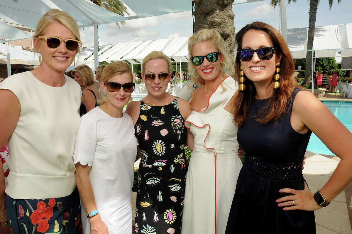 From left: Stephanie Sanders, Courtney Zener, Genna Evans, Annsley Popov and Val Burguieres at the Tootsies Fashion show at River Oaks Country Club Thursday April 13,2017.(Dave Rossman Photo)
