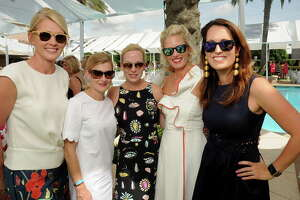 From left: Stephanie Sanders, Courtney Zener, Genna Evans, Annsley Popov and Val Burguieres at the Tootsie's Fashion show at River Oaks Country Club Thursday April 13,2017.(Dave Rossman Photo)