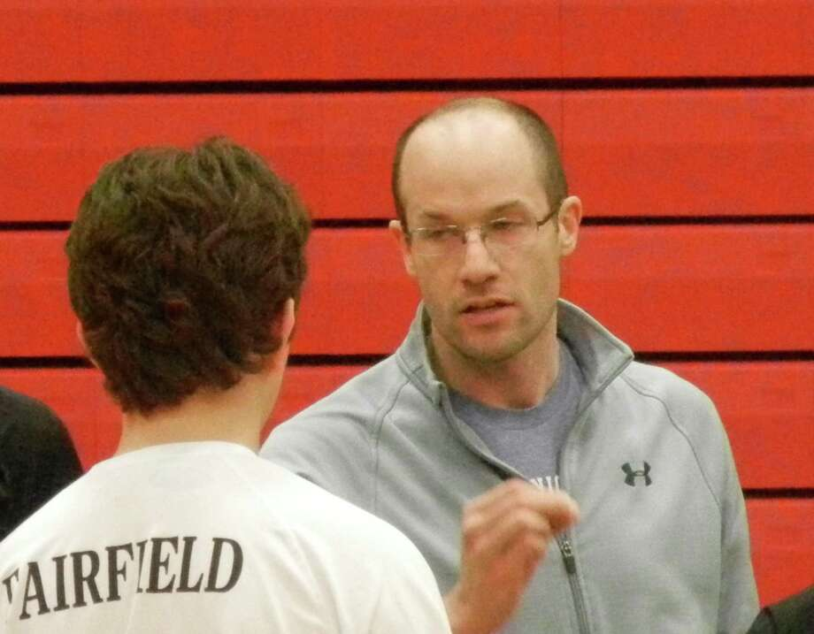 Garrett Covino, who had coached the Fairfield co-op team, will now take the Warde program this spring as the sport has split back into two teams. Photo: Reid L. Walmark / Reid L. Walmark / Fairfield Citizen