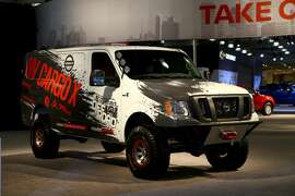 NEW YORK, USA - APRIL 13: Nissan NV Cargo X is displayed at the New York International Auto Show in New York City, United States on April 13, 2017. (Photo by Volkan Furuncu/Anadolu Agency/Getty Images)