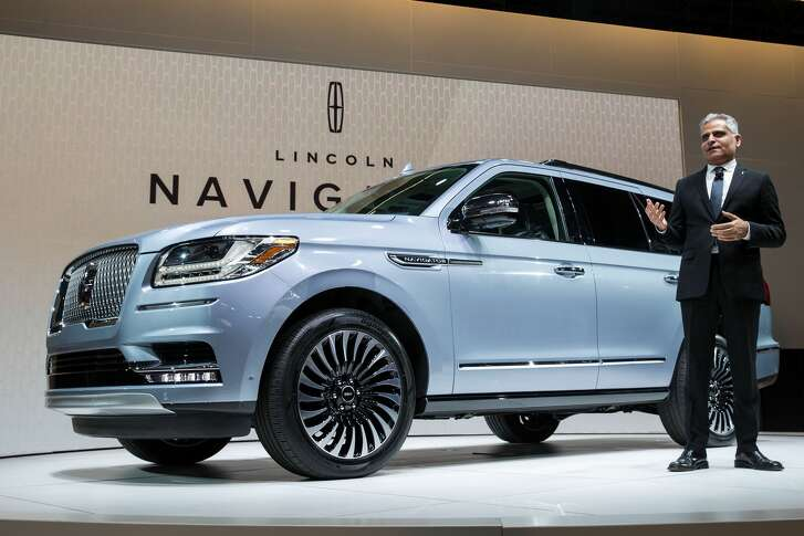 NEW YORK, NY - APRIL 12: President of Lincoln Motor Company Kumar Galhotra speaks about the 2018 Lincoln Navigator at the New York International Auto Show on April 12, 2017 at the Jacob K. Javits Convention Center in New York City. The New York International Auto Show will open to the public starting Friday April 14 and run through April 23. (Photo by Drew Angerer/Getty Images)
