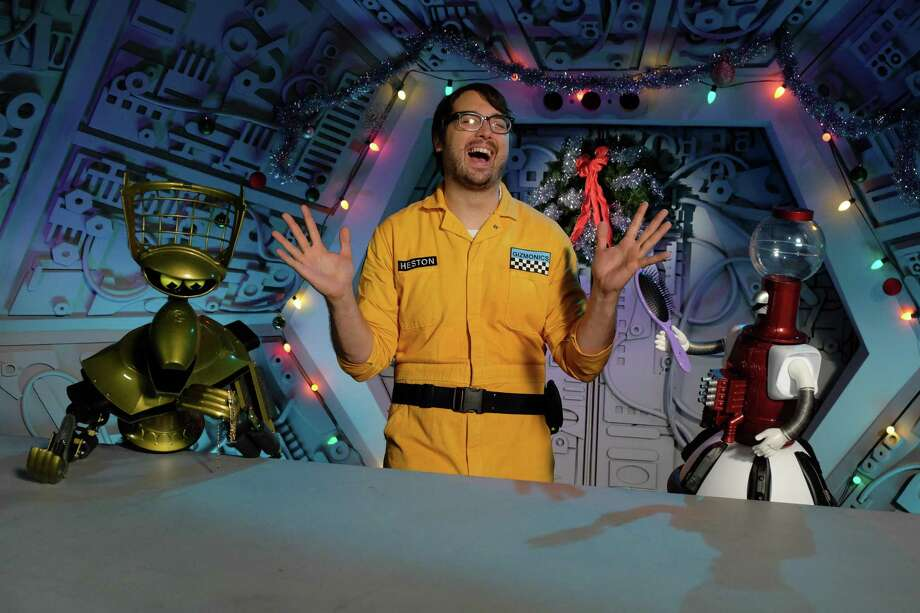 "Jonah (Jonah Ray) is the new human test subject who's subjected to terrible movies in the new season of ""Mystery Science Theater 3000."" Photo: Netflix / Photo by Darren Michaels, SMPSP / TM & © 2016 Satellite of Love, LLC. All Rights Reserved"