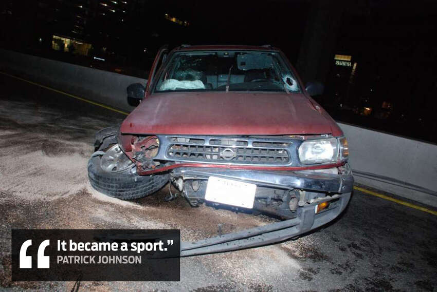 Johnson on the process of throwing rocks at vehicles: