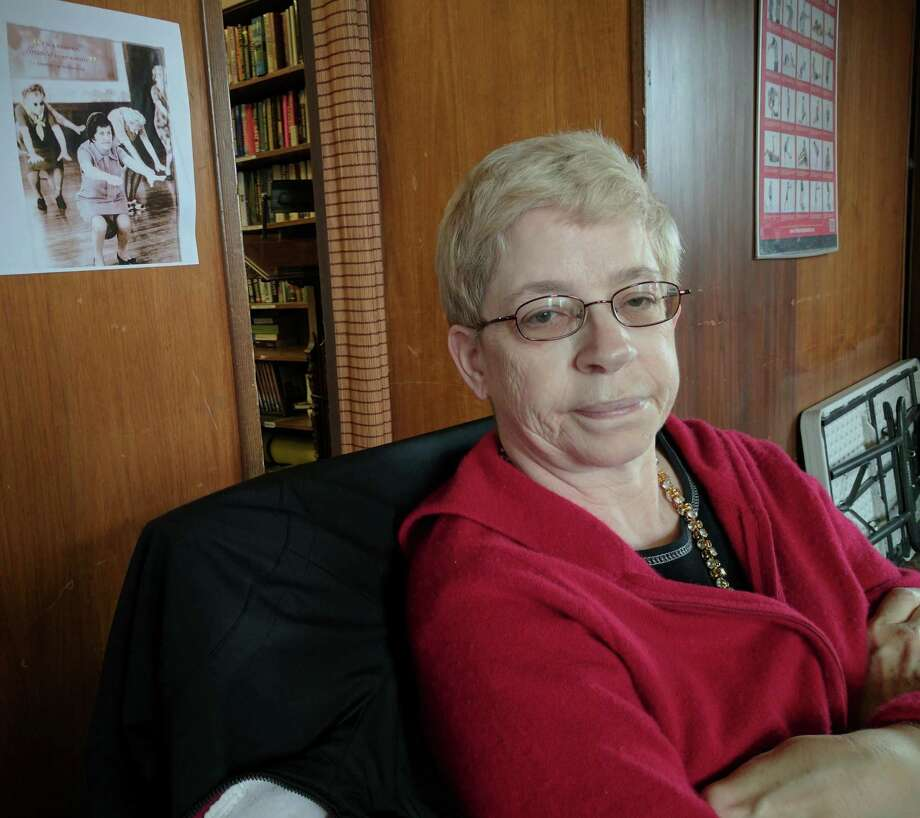 Helen Muir, 59, comes to the senior center every day for classes. Photo: Jennifer Turiano / Contributed Photo