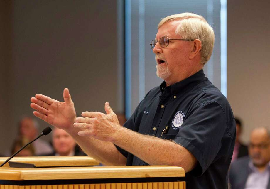 Paul Case, Montgomery County building maintenance director, speaks during Commissioners Court at the Alan B. Sadler Commissioners Court Building, last week in Conroe. Photo: Jason Fochtman, Staff Photographer / © 2017 Houston Chronicle