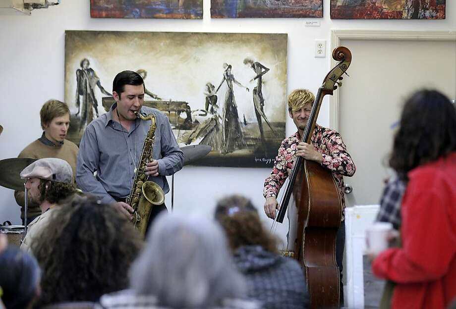 Saxophonist Daniel Brown runs Noise with his mother, Sara Johnson. Photo: Chronicle File Photo