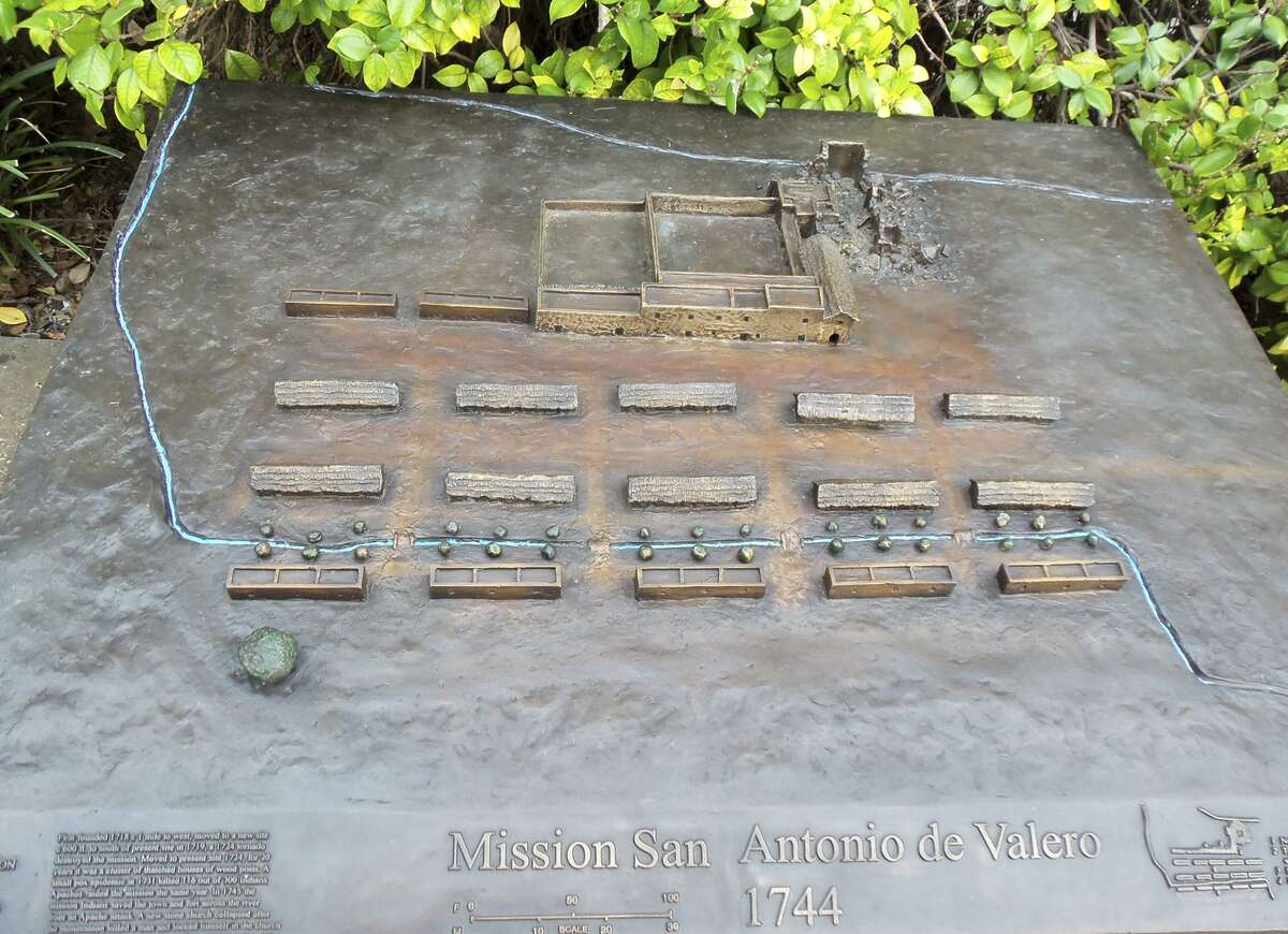 These bronze panels produced by artist-historian George Nelson and commissioned by Phil Collins will be on display during the Aug. 17-19 demonstration project. Nelson said he's making eight panels for exhibit at the state-owned Alamo, including one that will show the site as it appears today. But he'd like to make a second set for the city's Alamo Plaza, to show how the site evolved into today's public plaza.