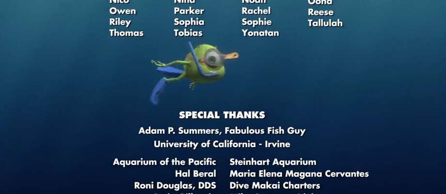 "Finding Dory (2016)In the credits to ""Finding Dory,"" Mike Wazowski of ""Monsters, Inc"" makes an appearance.  Photo: Finding Dory"